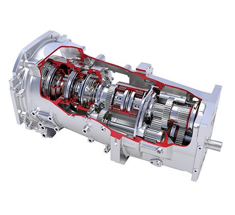 MF6600 tractors Dyna-6 transmission
