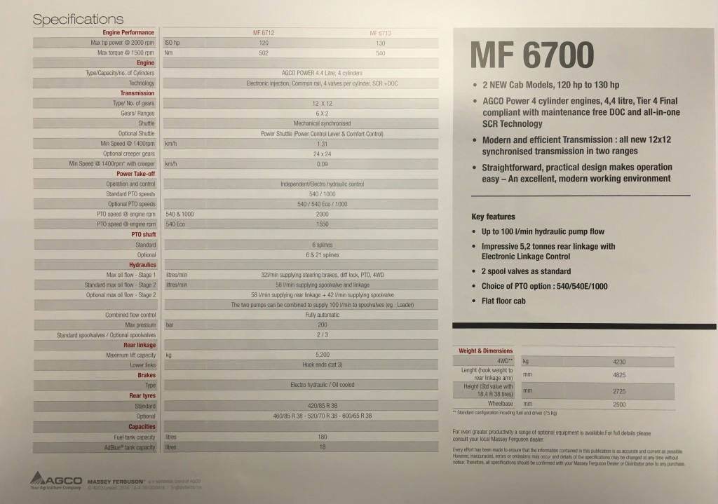 Massey Ferguson 6700 series brochure