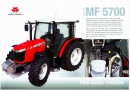 Massey Ferguson 5700 series cabbed tractor specification sheet